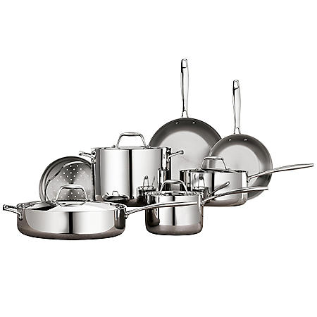 11 Pc. Tri-Ply Clad Stainless Steel Cookware Set