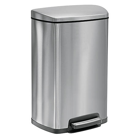 Tramontina Step Trash Can - 13 Gallons - Stainless Steel