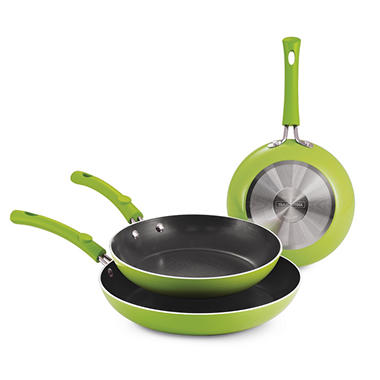 Simple Cooking - 3 pc. Fry Pans - Various Colors
