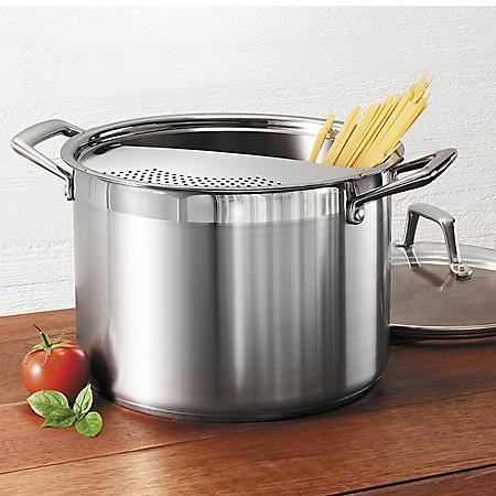 Tramontina 8 Qt. Stainless-Steel Lock-N-Drain Pasta Cooker