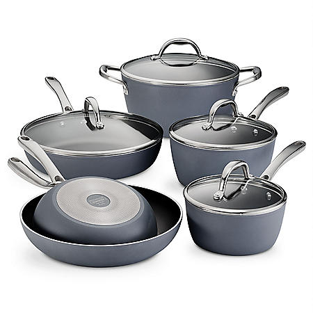 Tramontina 10-Piece Nonstick Induction-Ready Cookware Set, Slate Gray