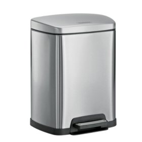 Tramontina Stainless Steel Step Can, 2.5 gal, Choose a Color
