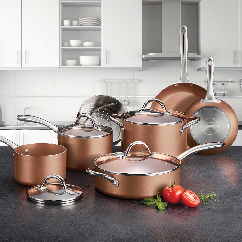 11-Piece Tramontina Nonstick Cookware Set