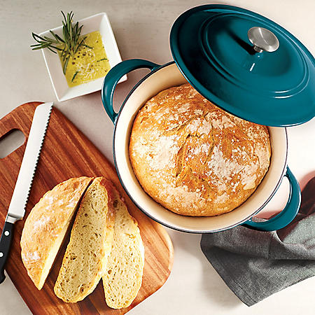 Tramontina Enameled Cast Iron 7 Qt. Covered Round Dutch Oven (Assorted Colors) by Tramontina