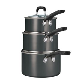 Tramontina 6-Piece Stackable Nonstick Sauce Pan Set (Assorted Colors)
