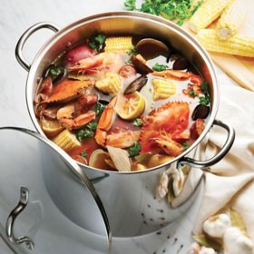 Tramontina 24-Quart Covered Stainless Steel Stock Pot