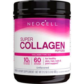 NeoCell Super Collagen Peptides, Unflavored Powder, Collagen Type 1 & 3 (600 g)
