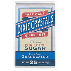 Dixie Extra Fine Granulated Sugar - 25 lbs.