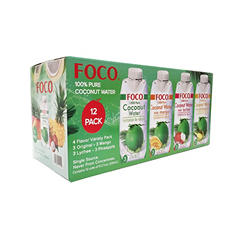 FOCO Coconut Water Variety Pack (11.2 oz. ea., 12 ct.)