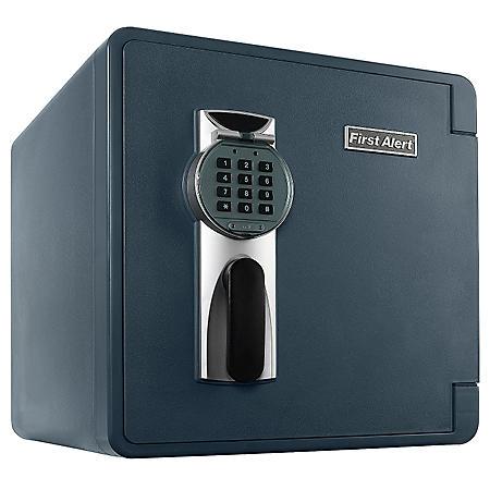 First Alert - 2092DF Waterproof 1-Hour Fire Safe with Digital Lock, 1.3 Cubic Feet, Gray