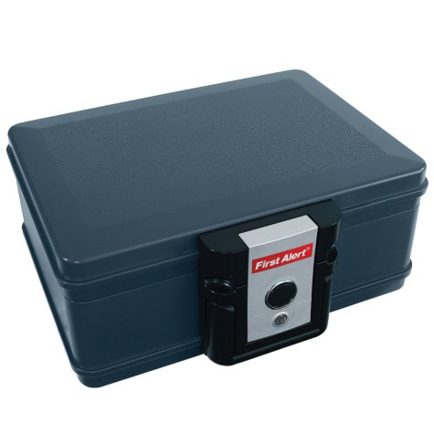 First Alert - 2013F Fire and Water Chest, 0.17 Cubic Foot, Gray