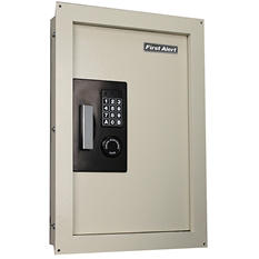 First Alert - 2070AF Expandable Anti-Theft Wall Safe with Digital Lock, 0.33-0.85 Cubic Foot, Cream