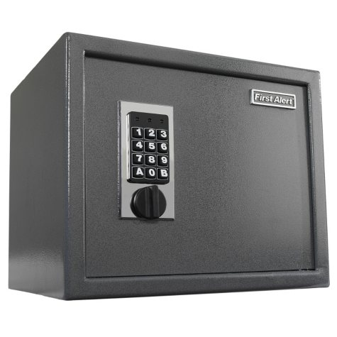 First Alert - 2072F Anti-Theft Safe with Digital Lock, 1.00 Cubic Foot, Gray