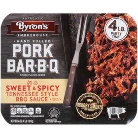 Byron's Fully Cooked Pork BBQ, Frozen (4 lbs.)