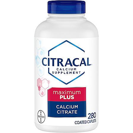 Citracal Calcium Citrate Caplets + D3 (280 ct.)