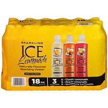 Sparkling ICE Sparkling Lemonade, Variety Pack (17 oz. bottles, 18 ct.)