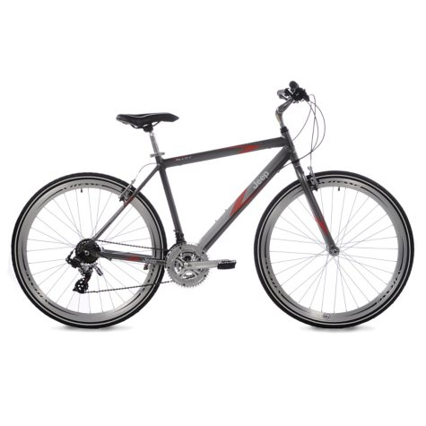 Jeep Compass Men's Hybrid Bike - Satin Gray