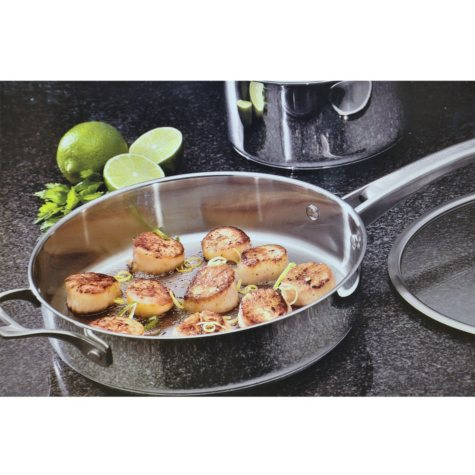Cooking with Calphalon Refined Stainless Steel Cookware Set - 11 pc.