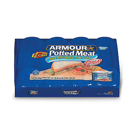 Armour Potted Meat Made With Chicken and Beef (3 oz. cans, 12 ct.)