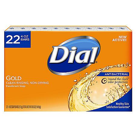 Dial Antibacterial Deodorant Soap, Gold (4 oz., 22 ct.)