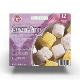 Nibble & Nosh Ganache-Petits Mini Variety Cakes (12 pk)