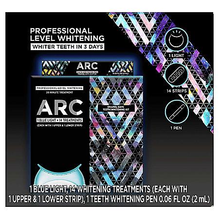 ARC Blue Light Teeth Whitening Kit, 14 Treatments + Bonus ARC Teeth Whitening Pen