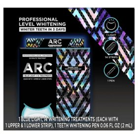 ARC Blue Light Teeth Whitening Kit, 14 Treatments + Bonus ARC Teeth Whitening Pen