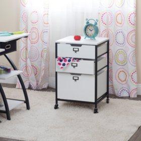 3-Drawer Mobile Organizer Cart