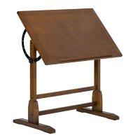 """Vintage Rustic Oak Solid Wood Drafting Table, 36"""" x 24"""""""