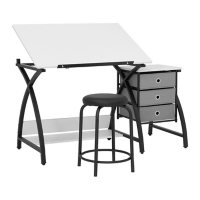 2-Piece Comet Center Plus with Drawing Table and Padded Stool, Assorted Colors
