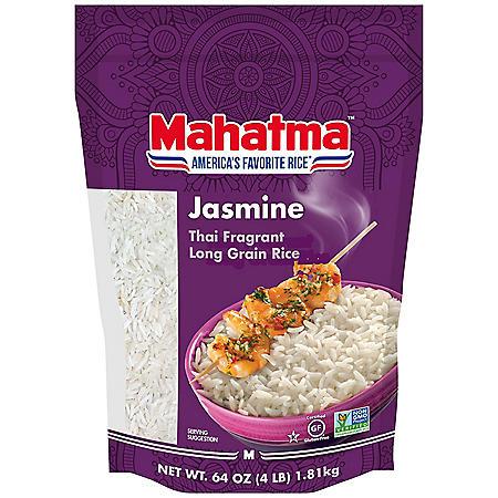 Mahatma Jasmine White Rice, Thai Fragrant Long Grain Rice (4 lb.)