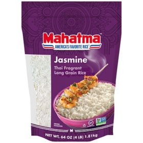 Mahatma Jasmine White Rice, Thai Fragrant Long Grain Rice (4 lb.)