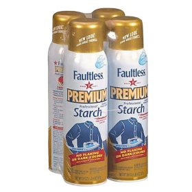 Faultless Premium Spray Starch (20oz, 4 Pack)