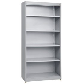 5-Shelf Radius Edge Steel Stationary Bookcase (Assorted Colors)