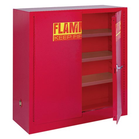 """Sandusky Counter H Paint and ink Storage Cabinet - 43""""W x 18""""D x 44""""H"""