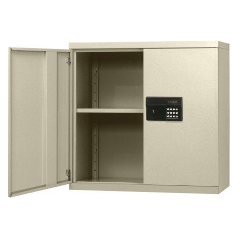 "Sandusky Keyless Electronic Wall Cabinet - Light Grey (30""W x 12""D x 30""H)"