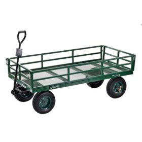 "Sandusky Heavy-Duty Steel XL Utility Crate Wagon - 60"" x 31"""