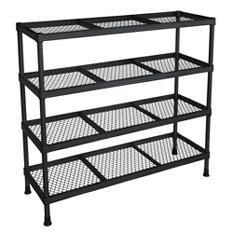 """Sandusky 4 Shelf Combination Wire Shelving Unit - Black - 31""""W x 11""""D x 31""""H"""