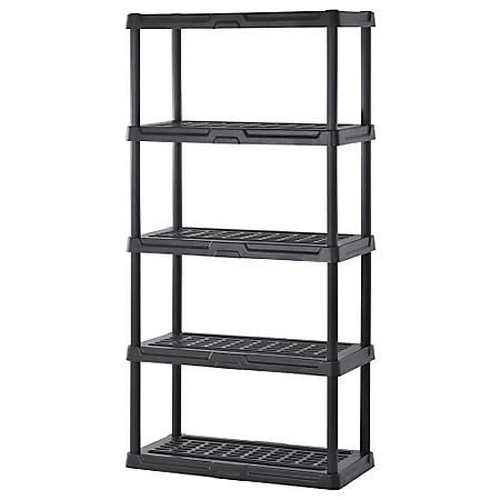 "Sandusky 5-Level Black Resin Shelving  (36""W x 18""D x 72""H)"