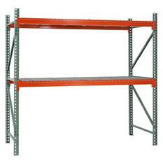 Sandusky 2-Level Steel Pallet Rack Starter Kit - Green/Orange