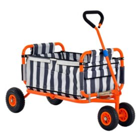 "Heavy Duty Steel Folding Transport Wagon by Sandusky - 54"" x 24"""