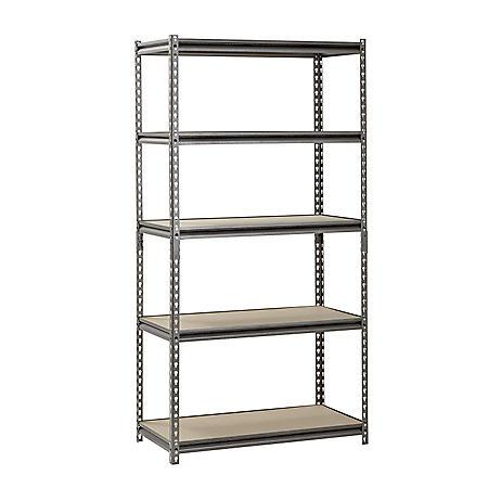 """Muscle Rack 5-Shelf Heavy-Duty Steel Shelving (36""""W x 18""""D x 72""""H)"""