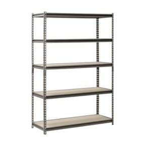 "Muscle Rack 5-Level Heavy-Duty Steel Shelving (48"" W x 18"" D x 72"" H)"