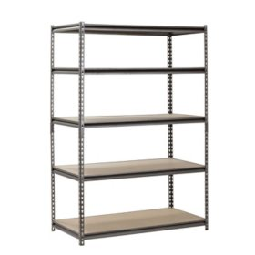"Muscle Rack 5-Shelf Heavy-Duty Steel Shelving (48""W x 24""D x 72""H)"