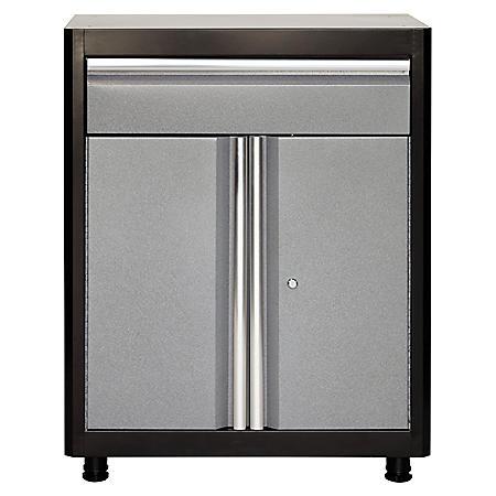 "American Heritage 36""H x 30""W x 18""D Steel Base Cabinet with Drawer (Black/Multi-Granite)"