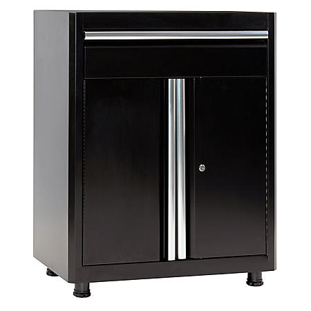 """American Heritage 36""""H x 30""""W x 18""""D Steel Base Cabinet with Drawer (Black)"""