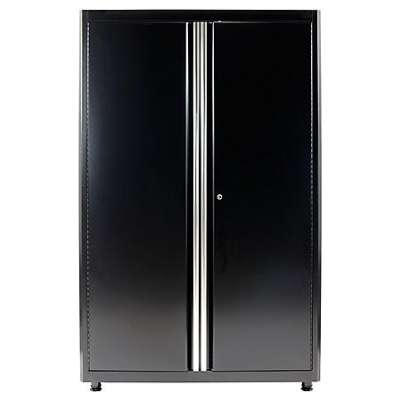 "American Heritage 72""H x 46""W x 24""D Welded Steel Floor Cabinet (Black)"