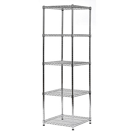 "Muscle Rack 5-Level Wire Shelving Unit (18""W x 18""D x 59""H)"