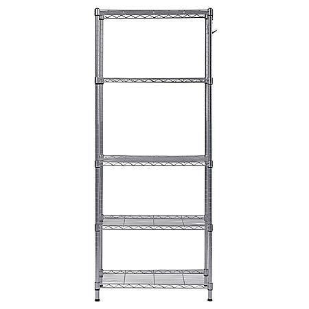 Muscle Rack 5-Shelf Wire Commercial Shelving Unit (59 in. H x 24 in. W x 14 in. D)