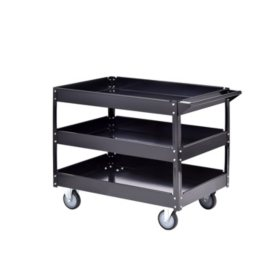 Muscle Rack Steel Industrial Commercial Service Cart (Black)